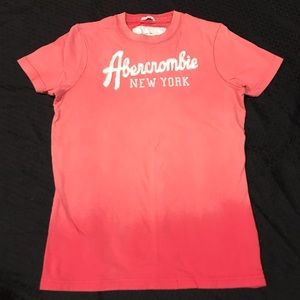 Men's Small Ombre Abercrombie & Fitch Tee